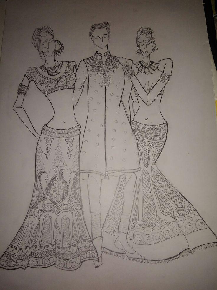 #Bridal sketch