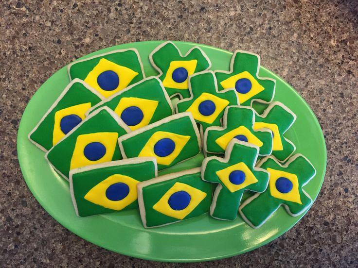 Brazil Flag cookies