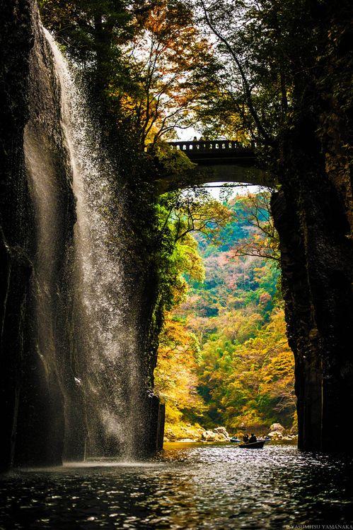 Waterfall Bridge ~ Takachiho Gorge, Japan