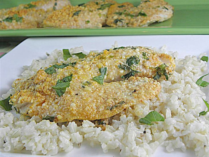 Baked Parmesan Tilapia -- I'm not a seafood lover, but tilapia has a very mild flavor (it's not a smelly fish!) so I like it. Our children like tilapia too, and I've run out of variations for baking it, so I can't wait to try this recipe.