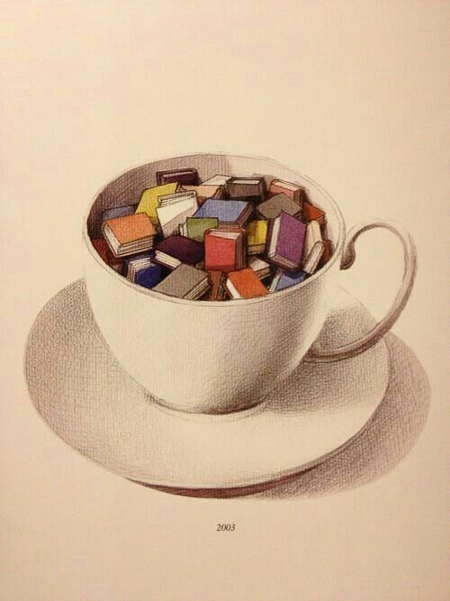 Books are really my cup of tea. | Do I save this to my book board or my tea board?