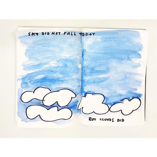 Clouds came tumbling down It was bound to happen ☁️☁️☁️☁️☁️☁️☁️ #clouds #fallingsky #skyfall #celebratelife #sketchbook