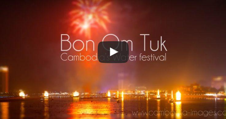 VIDEO Bon Om Tuk, #Cambodia water festival.   #timelapse