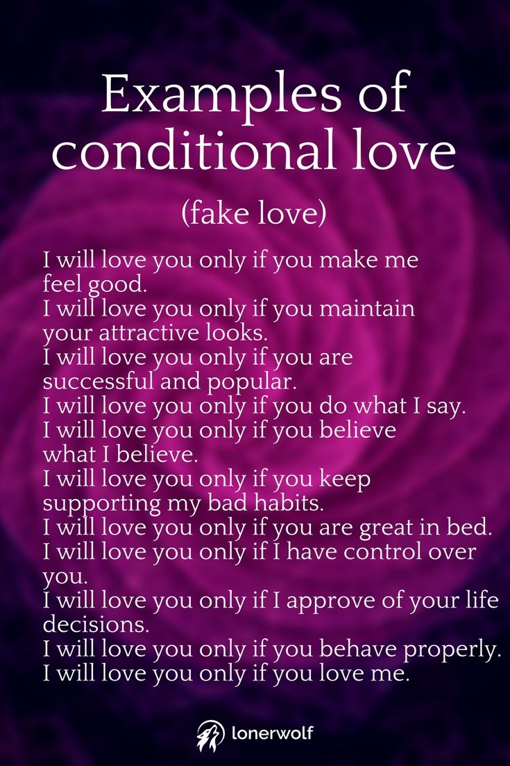 Are you experiencing unconditional love or conditional love? John van de Vin. Abusing liar and cheater