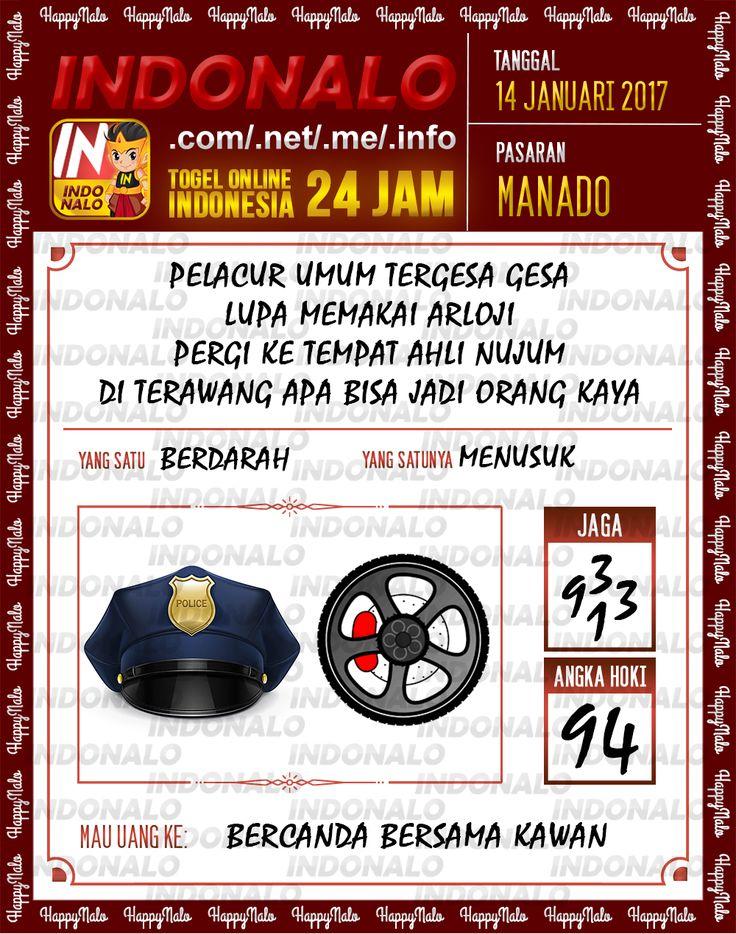 Kode Hoki 2D Togel Wap Online Live Draw 4D Indonalo Manado 14 Januari 2017