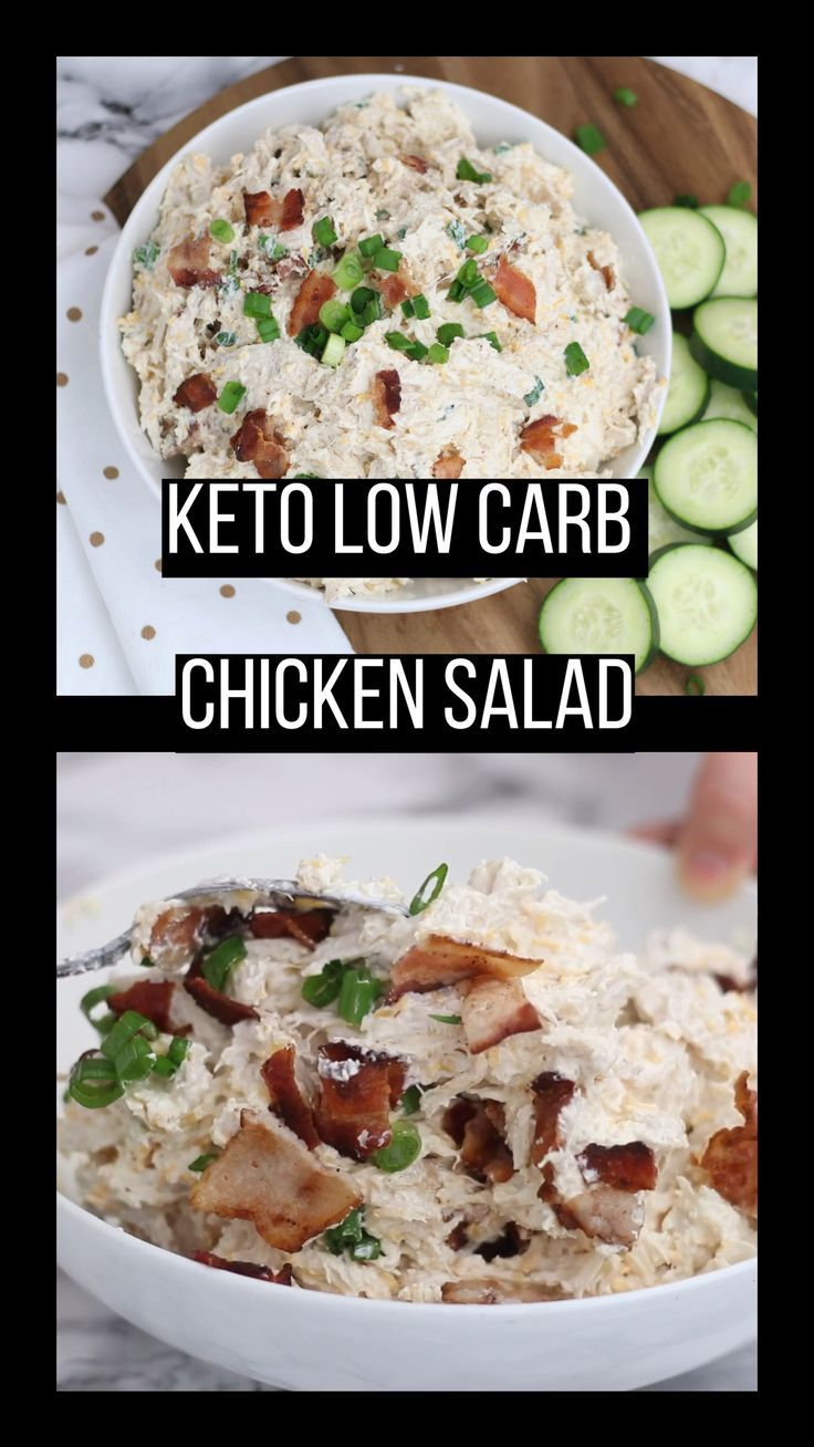 Low Carb Loaded Chicken Salad Recipe Low Carb Chicken Salad Keto Chicken Salad Dinner Salads