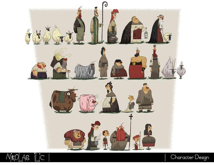 Character Design Artist Portfolio : Nikolas ilic designer visual development artist