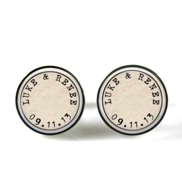 Personalised couple cufflinks