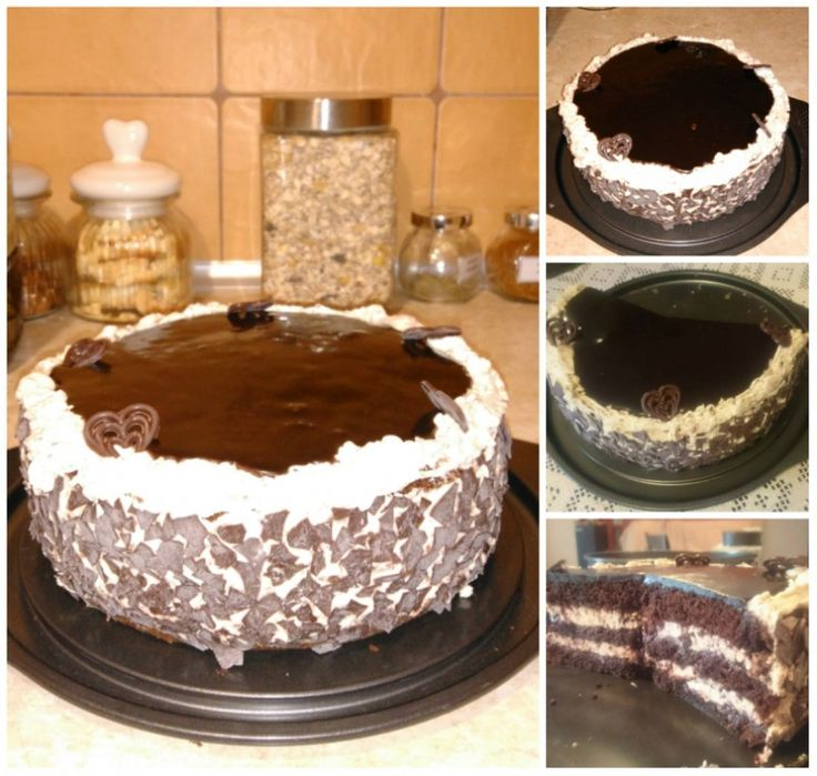 Tort czekoladowo - kawowy z powidłami śliwkowymi | Moje Wypieki