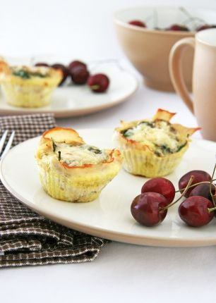 "Almost no-carb ""quiche"" cups, I used to make these out of the South Beach Diet book ... they are YUMMY and a great grab and go breakfast if you make ahead of time."