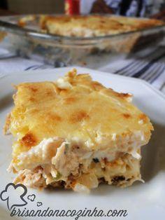 Brisando na Cozinha: Torta cremosa de frango, milho e requeijão                                                                                                                                                                                 Mais