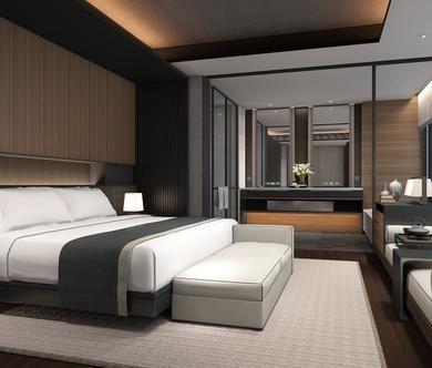 The Lalu Nanjing - Nanjing - Interiors - SCDA ベッド ホテル インテリア コーブ照明