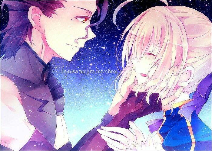 Saber and lancer! So cute!!!!