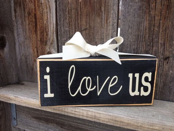 I Love Us wood block by BuzzingBeesCrafts on Etsy