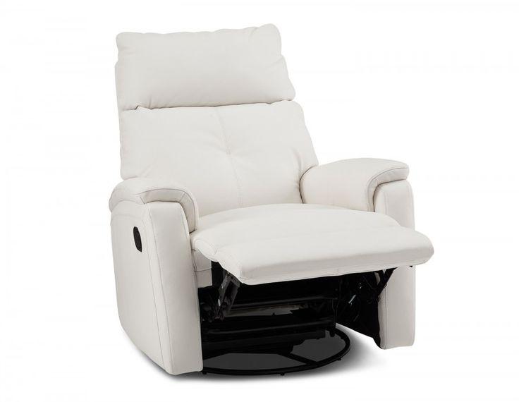 Le polyvalent Stan incarne le confort luxueux. Avec son recouvrement de cuir à 100%, ce fauteuil, qui peut être utilisé comme chaise berçante lorsqu'il n'est pas ouvert, s'incline facilement en se fixant en place grâce à sa poignée discrète pour vous permettre une détente complète. Offrant un bon support de la tête et du cou, ce fauteuil inclinable moderne sera le meilleur siège de la maison.