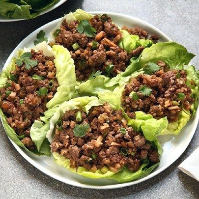 "Asian Lettuce Wraps I ""This recipe is AMAZING! The best from this site so far. I cook for 12 guys every night and this was their all time favorite recipe. Don't change a thing. The recipe is perfect."""