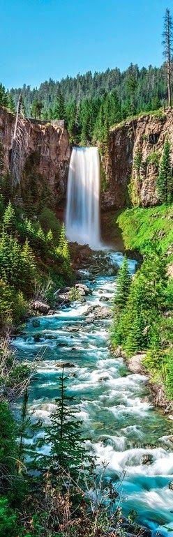 Tumalo Falls on the Deschutes River, Oregon.   ♥♥