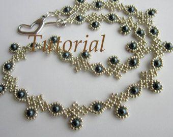 PDF tutorial de encaje collar semilla perla oval por BeadsMadness