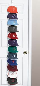 Ways to Organize Baseball Hats | ... | Baseball hat organizer, Hat display and Baseball hat display
