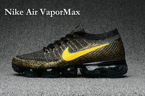 low priced 09580 51ff1 Big Discount 2017 NIKE AIR VAPORMAX FLYKNIT Mens Shoes black gold