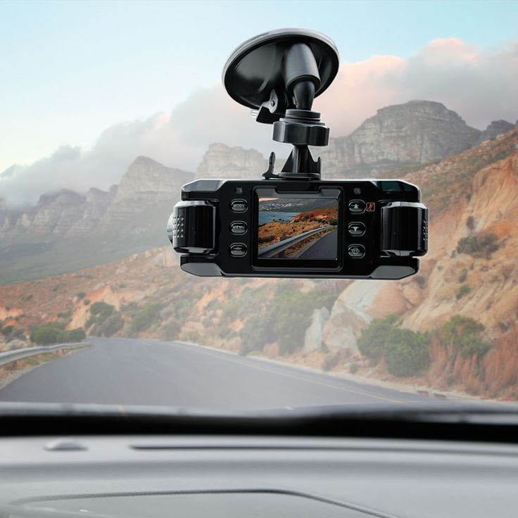 The Front And Rear Roadtrip Recorder - This is the in-car video camera that captures everything the driver sees—or can't see—during a cross-country road trip or a day in the city. Whether this device is suctioned to a dashboard or a windshield, the two directional cameras can be adjusted 180° to make high-definition recordings of the road ahead, behind, or even to the sides to capture all audio and visuals of the experience.