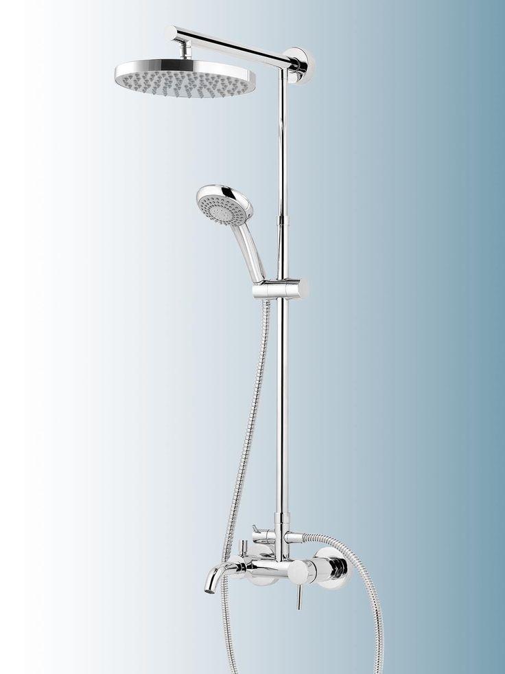 SCHULTE DuschMaster Rain mit Badewannenarmatur, Kopfbrause rund, D9645 in Heimwerker, Bad & Küche, Armaturen | eBay!