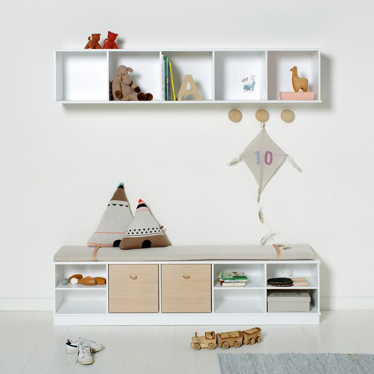 Wood Collection shelving units by Oliver Furniture.