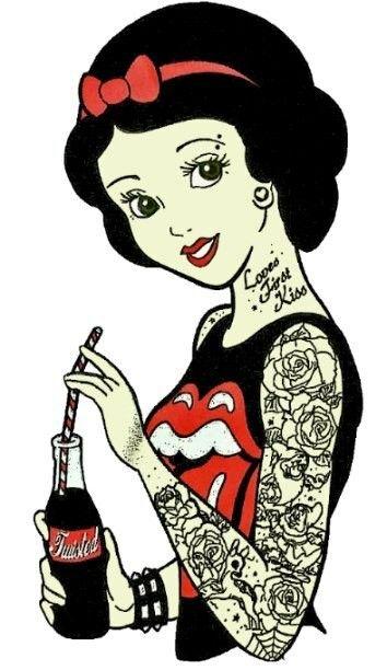 Las 25 mejores ideas sobre princesas tatuadas en for Princesas disney tattoo