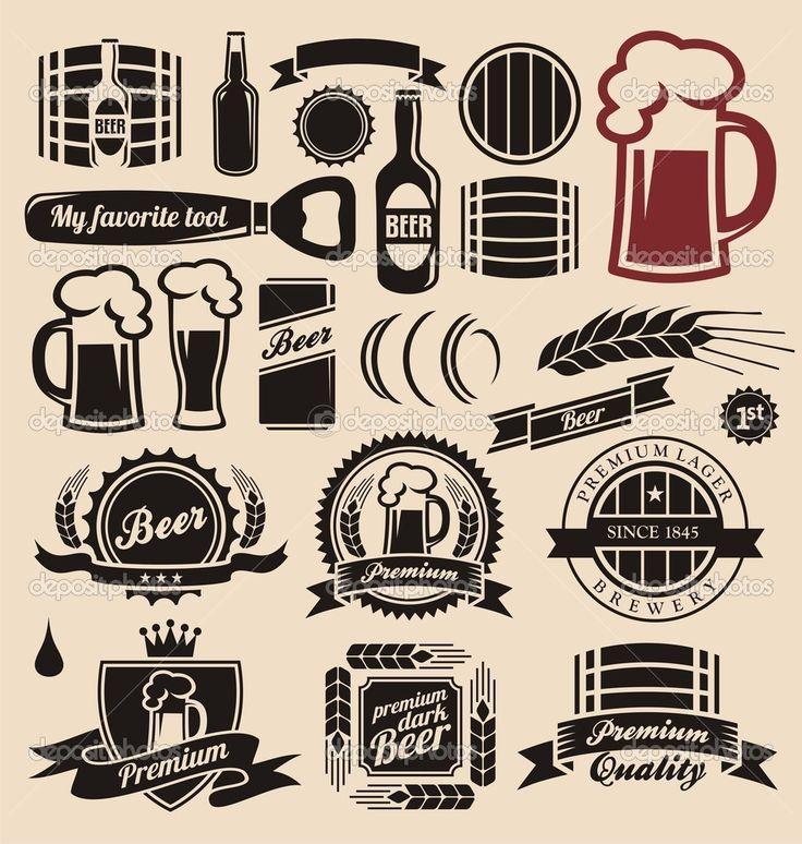 Baixar - Coleção de elementos de design de cerveja e bebidas — Ilustração de Stock #14061831