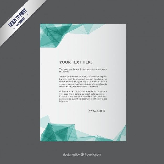 Flyer Template With Abstract Polygons Free Vector