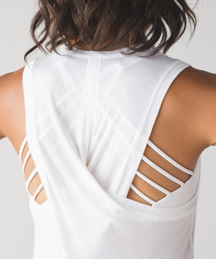 Bend and twist to your heart's content in this soft, breathable tank.