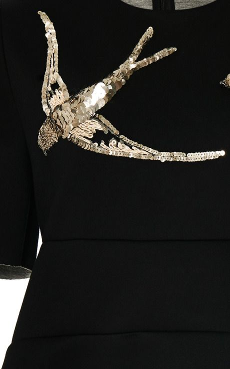Crew Neck Sweater With Bird Embroidery by Marni for Preorder on Moda Operandi