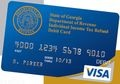 That's the Georgia tax refund debit card being issued this year. Four other states are sending out refunds this way: New York, Louisiana, Georgia and Oklahoma. Most give taxpayers an option to get the card, but not OK. Just heard from a tax pro with a client who got a $1 debit card. And now we know why people hate taxes/tax offices!
