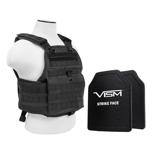 NcStar Plate Carrier Vest with 10-inch x 12-inch PE Hard Plates