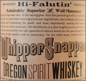 Whippersnapper Whiskey. I appreciate a whiskey with a sense of humor.