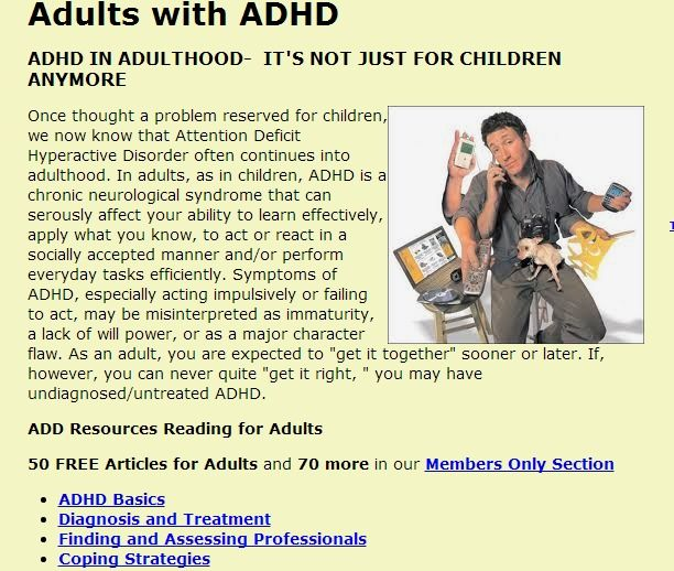 Adults with ADHD | Attention Deficit Disorder Resources 2012 Pictures!