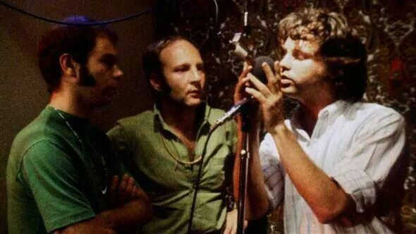 Jim Morrison recording the Song The End.