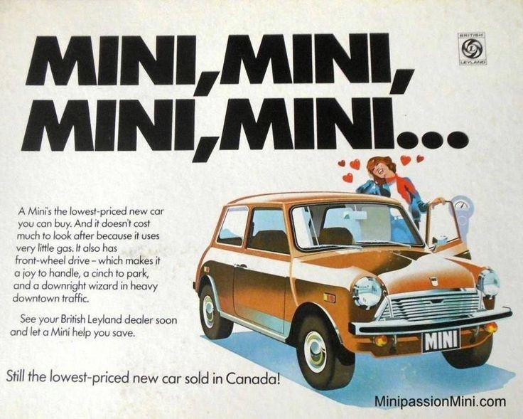 "Austin Mini 1000 ""Canadian"" 1974 British Leyland, Export"