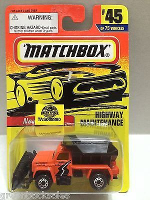 Matchbox Racing Car - Highway Maintenance This item is NOT in Mint Condition and…
