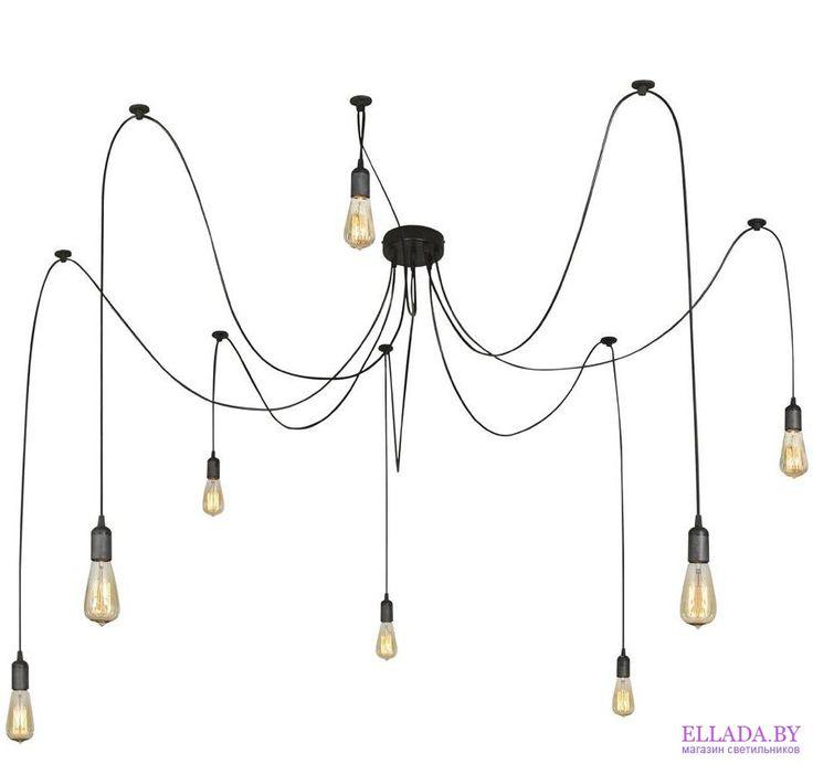 Подвесные люстры с элементами дерева и ковки - Globo TWINE II A110-8, Нет в наличии: Под заказ до 14 дней | Магазин светильников «Эллада»