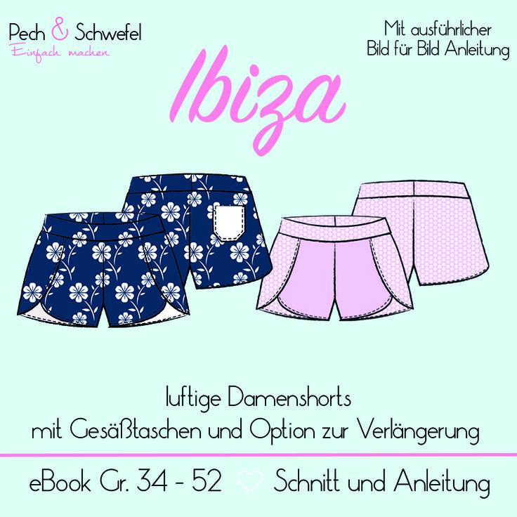 E-Book Schnittmuster IBIZA Damenshorts