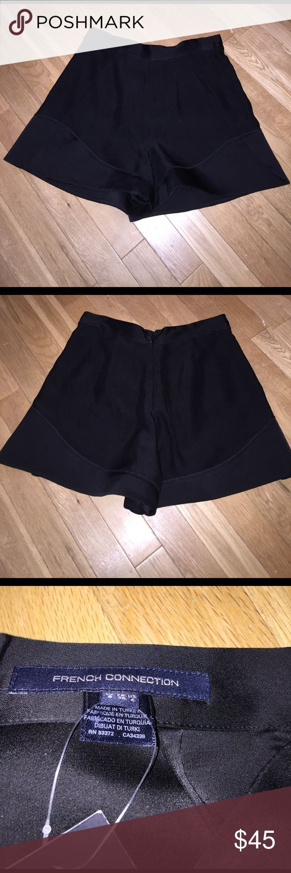 NWT French Connection shorts Really cute! Women's brand new with tag. Never worn French Connection shorts. Size 4. Open to offers. Color black. French Connection Shorts