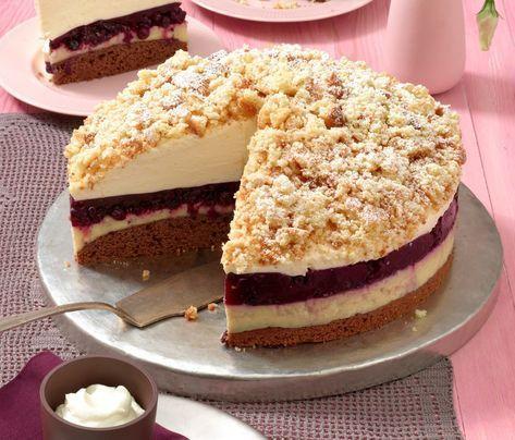 Da bekommt man schon beim Ansehen Appetit: Heidelbeer-Eierlikör-Torte.