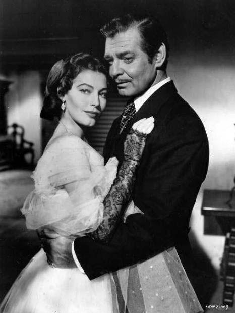 Ava Gardner and Clark Gable