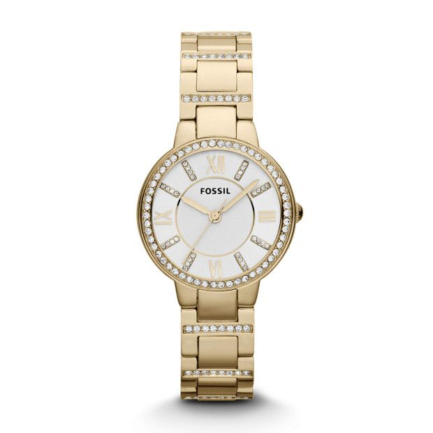 Shiny steel meets dramatic glitz—made for modern sophisticates and vintage enthusiasts alike, you won't be able to live without our ever-chic Virginia. This Virginia watch also features a three hand movement on a stainless steel bracelet.*Our Adjust-O-Matic closure allows you to self-adjust the size of Virginia's strap or bracelet, making it the perfect gift that she can wear right away!