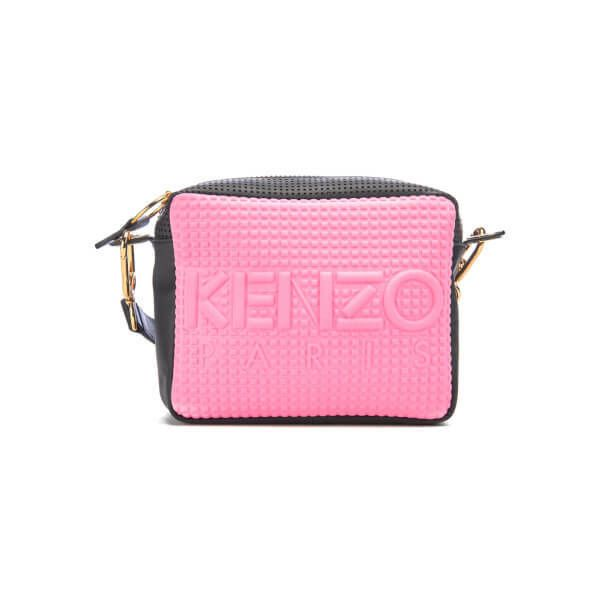 KENZO Women's Kombo Camera Bag - Pink/Bordeaux (€265) ❤ liked on Polyvore featuring accessories, tech accessories, camera bag and kenzo