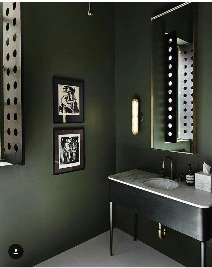 Dark Green Walls Bagno Verde Arredo Bagno Vintage Arredamento