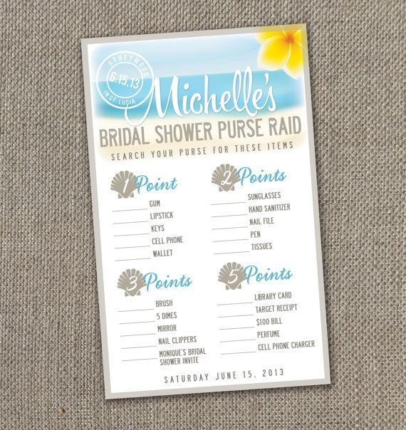 33 best Bridal shower ideas images on Pinterest Beach bridal
