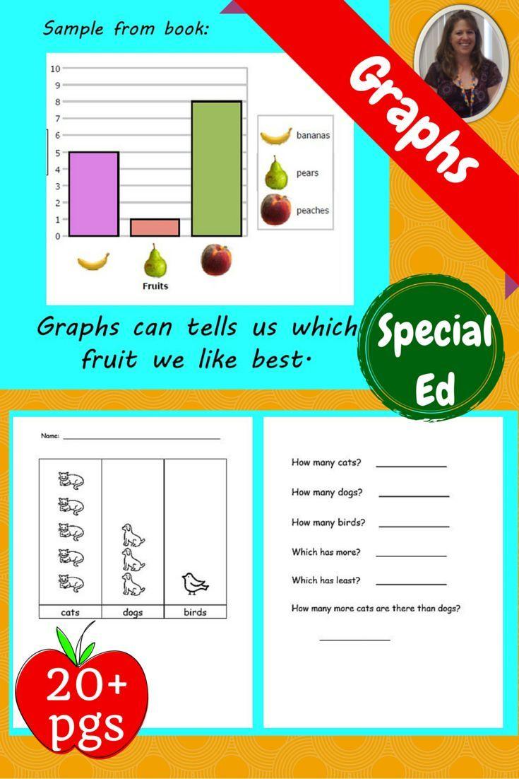 Graph Unit For Special Education Pictographs Special Education Teaching Special Education Bar Graphs