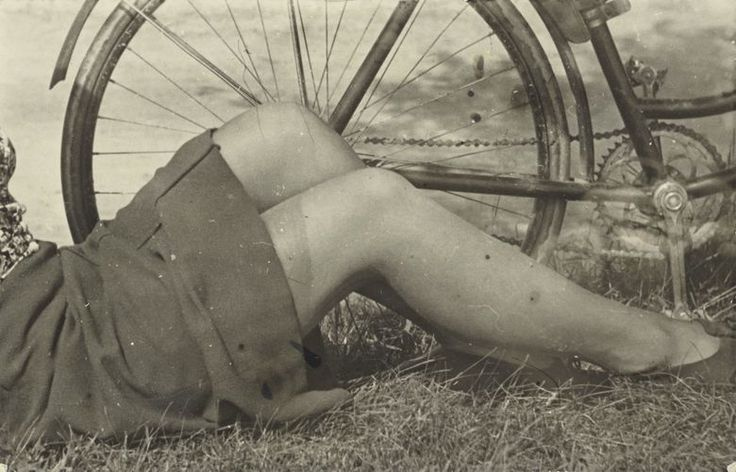 © Josef Bartuška, 1930s, Untitled (Legs And Bicycle)